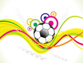 Abstract colorful football background — Stockvector