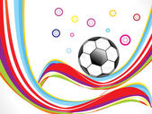 Abstract colorful football background — Vector de stock