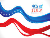 Abstract fourth of july background — Stock Vector