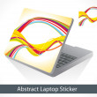Abstract colorful laptop sticker — Stock Vector #49156475