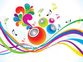 Abstract colorful musical background — Stock Vector
