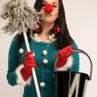 Stock Photo: Cleaning after Christmas
