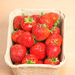 Stock Photo: Strawberries in punnet