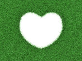 Heart shape in green grass — Stock Photo
