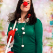 Stock Photo: Womready for Christmas