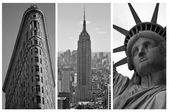 New York Black and White Triptych — Stock Photo