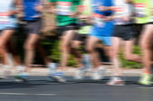 Marathon Racers — Stock Photo