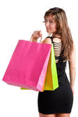 Woman Carrying Shopping Bags — Stok fotoğraf