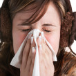 Stock Photo: Sick WomSneezing