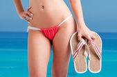 Woman in Bikini — Stock Photo