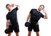 Dumbbell Side Bend — Stock Photo