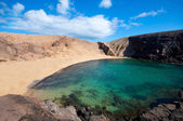 Papagayo Beach in Lanzarote — Stock Photo