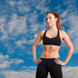 Sporty Woman Standing — Stock Photo