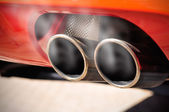 Smoky Exhaust Pipe — Stock Photo