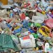 Stock Photo: Plastic garbage in landfill