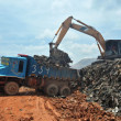 Garbage Trucks work on the landfill — Stock Photo #24719661
