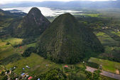 Rain Forest mountain, Perlis Malaysia - arial view — Stock Photo
