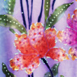 Flower Batik Background — Stock Photo