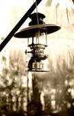 Vintage gasoline lamp — Stock Photo