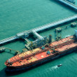 Oil Tanker at refinery plant — Stock Photo #38017825
