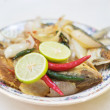 Salted fish dish — Stock Photo
