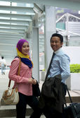 Asian Business Couple — Stockfoto