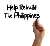 Help Rebuild The Philippines — Stock Photo