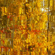Abstract Yellow Autumn Leaves Reflection — Stock Photo