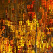 Abstract Red Yellow Leaves Reflection — Stock Photo