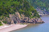 Bay Of Fundy Coastline St Martins — Stock Photo