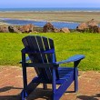 Blue Beach Chair Summer Scene — Stock Photo