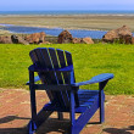 Blue Beach Chair Summer Scene — Stock Photo #37053565