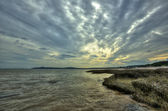 HDR St Martins Caves Sky — Stock Photo