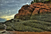 HDR St Martins Caves Seaweed Rock Formations — Stock Photo