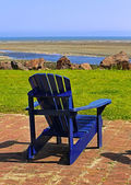 Blue Beach Chair Summer Scene — Stock Photo