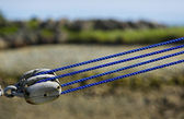 Fishing Boat Pulley Rope Tension — Stock Photo