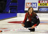 Curling Women Canada Rachel Homan Skips — Stock Photo