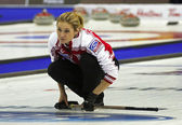 Curling Women Russia Fomina Watches Rock — Stock Photo