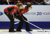Curling Women Canada Kreviazuk Weagle — Stock Photo