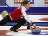 Curling Women Russia Anna Sidorova — Stock Photo