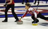 Curling Women Russia Skip Anna Sidorova — Stock Photo
