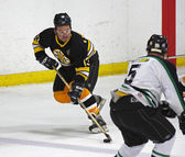 Boston Bruins Alumni Hockey Game Ken Linseman Skating — Stock Photo
