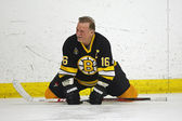 Boston Bruins Alumni Hockey Game Rick Middleton Stretches — Stock Photo
