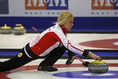 Curling Women Denmark Madeleine Dupont — Stock Photo