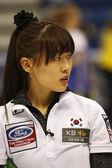 Curling Women Korea Un-chi Gim — Stock Photo