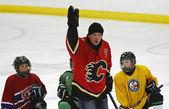 NHL Hockey Theo Fleury Instruction — Stock Photo