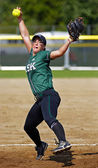 Canada games softball woman pitcher ball — Stock Photo