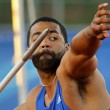 Постер, плакат: Javelin throw male athlete canada