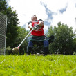 Highland Games Man Hammer Throw — Stock Photo #44776939