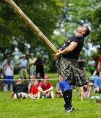 Highland Games Caber Toss — Stock Photo